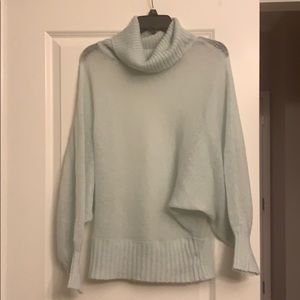Bebe see through mint green sweater M